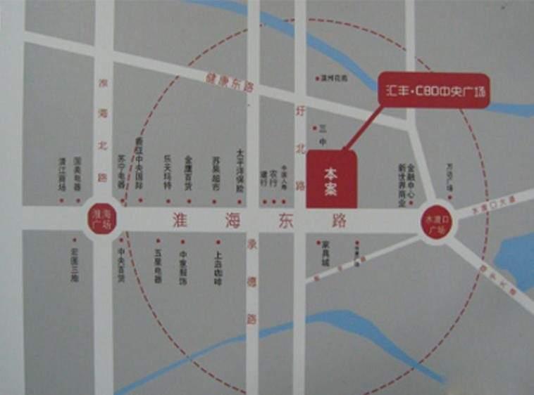 汇丰CBD中央广场位置图
