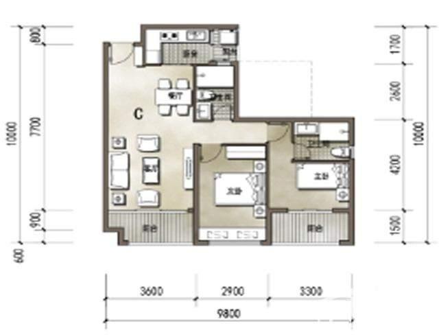 4-7号楼C户型