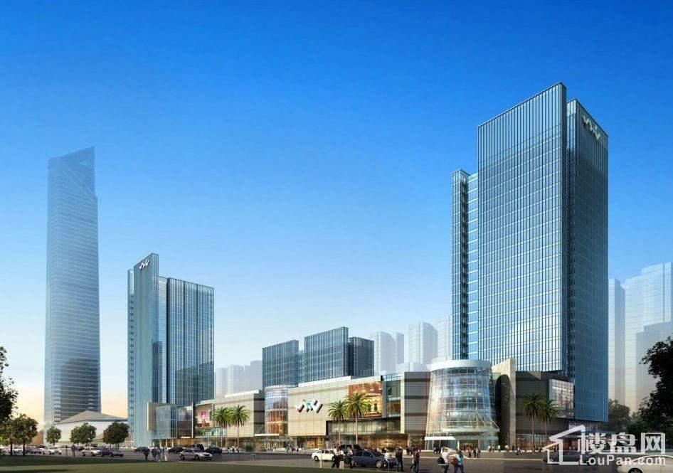 华南城CBD一号广场外立面效果图