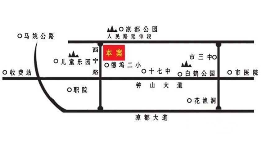 聚福新城位置图