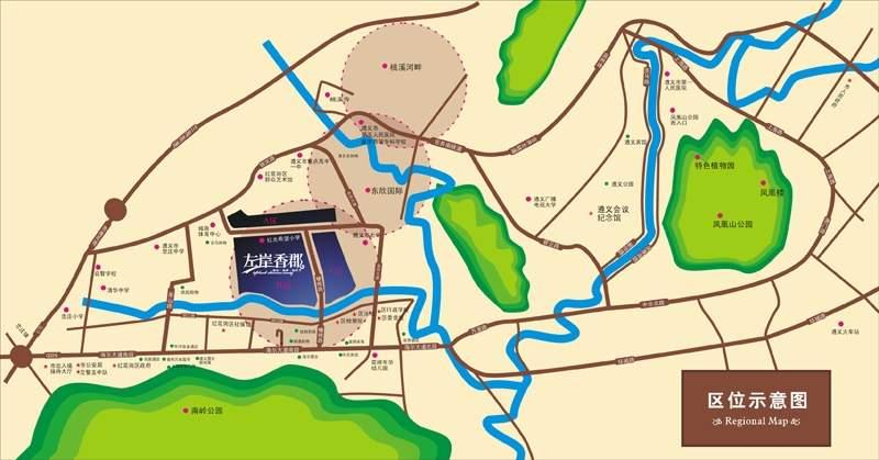 左岸香郡位置图