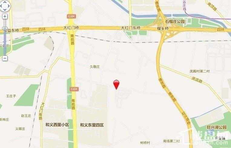 丰台大红门油毡厂地块位置图