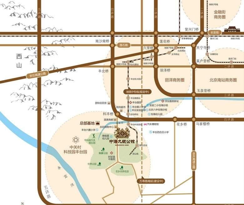 中海九号公馆位置图