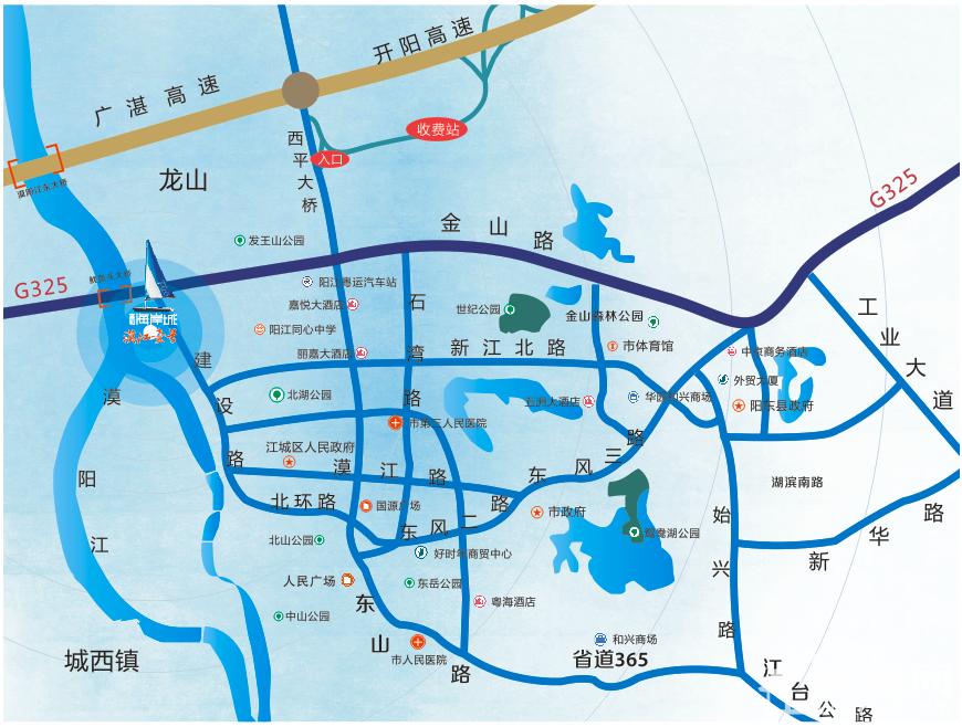 富和·海岸城区域地图-富和海岸城3期漠江壹号位置图楼盘相册图片