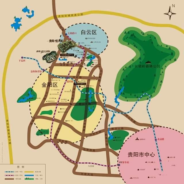 贵阳恒大城位置图