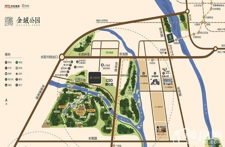 金域公园位置图