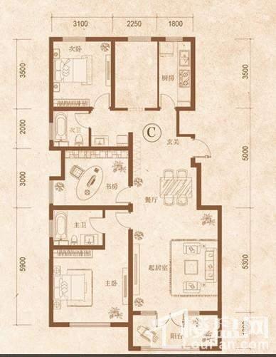 红蔷花园户型图