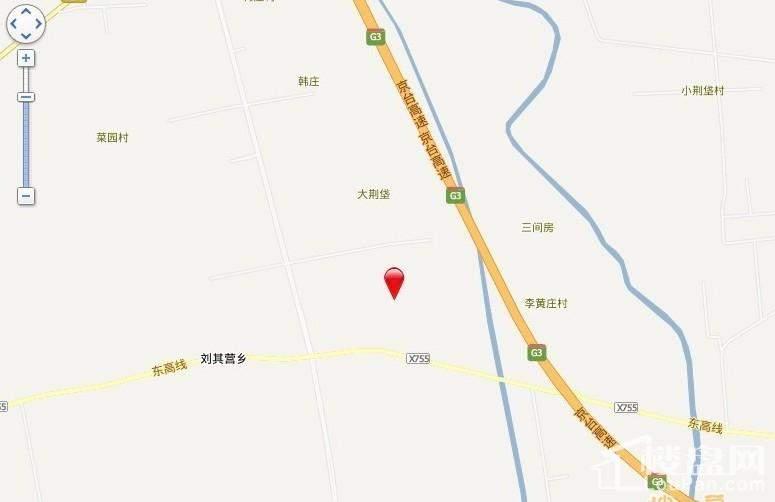 红蔷花园交通图电子地图