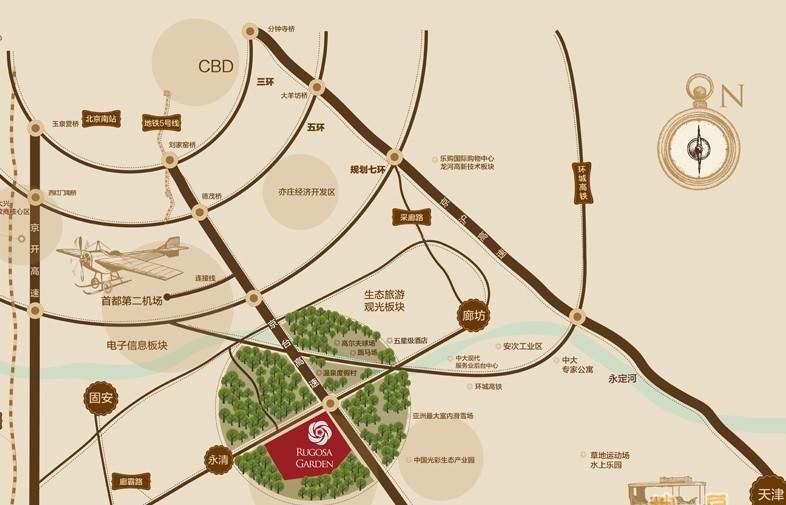 红蔷花园位置图