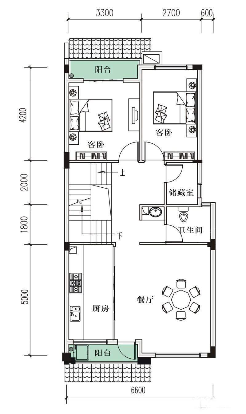 7-12#D户型2层