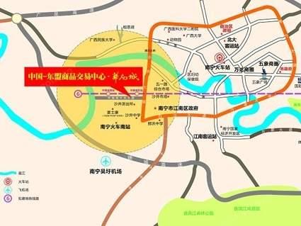 华南城位置图