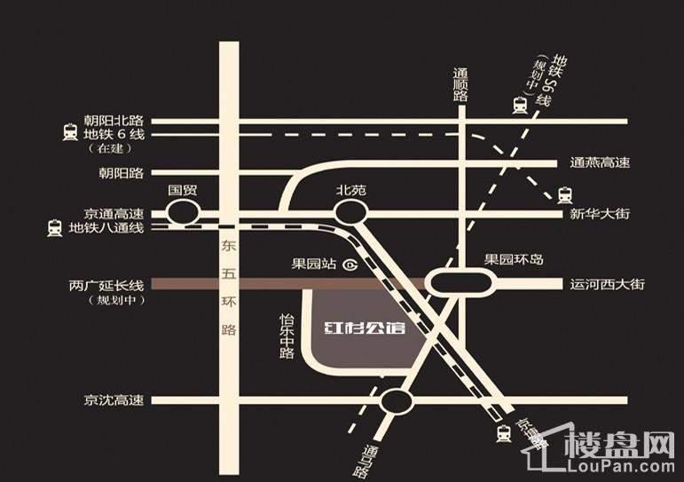红杉公馆位置图