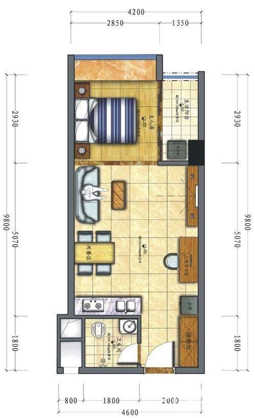 C栋公寓户型