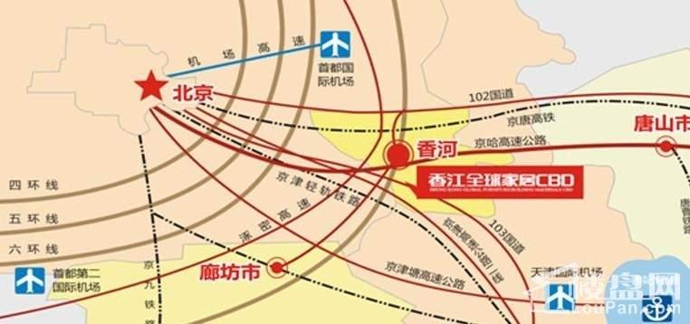 香江全球家居CBD位置图