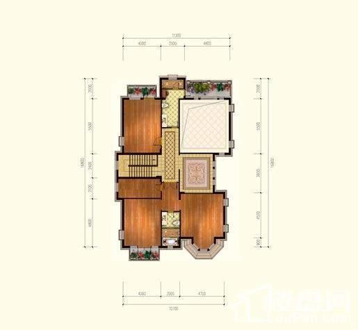 F2二层户型图