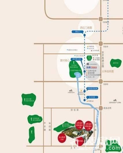 龙熙·瓦德拉玛庄园位置图