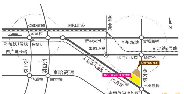 华远好天地(北京铭悦)位置图