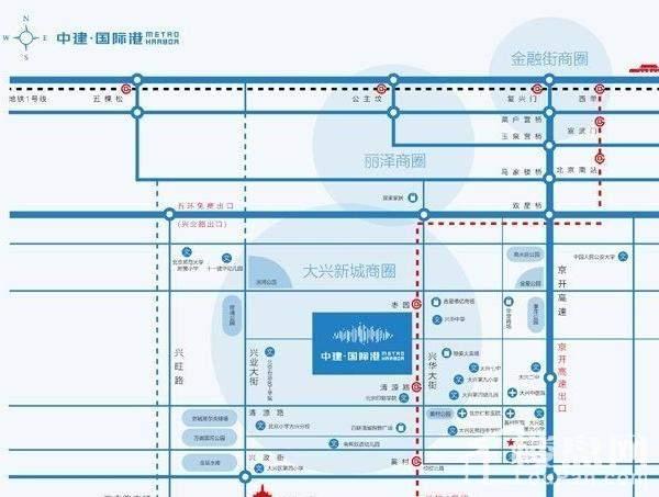 中建·港湾中心位置图