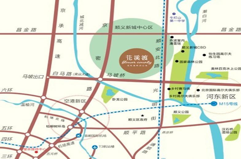 中铁花溪渡位置图