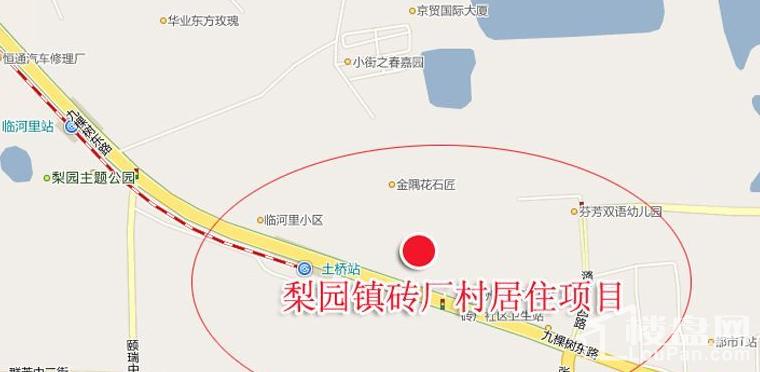 梨园镇砖厂村居住项目位置图
