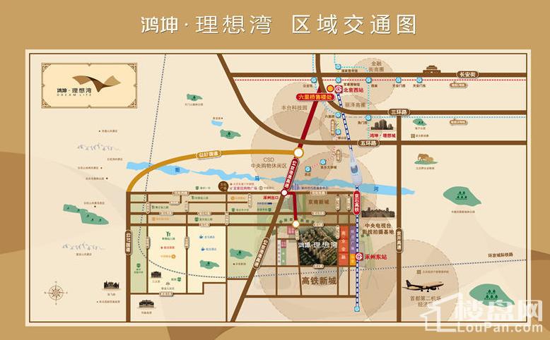 鸿坤理想湾位置图