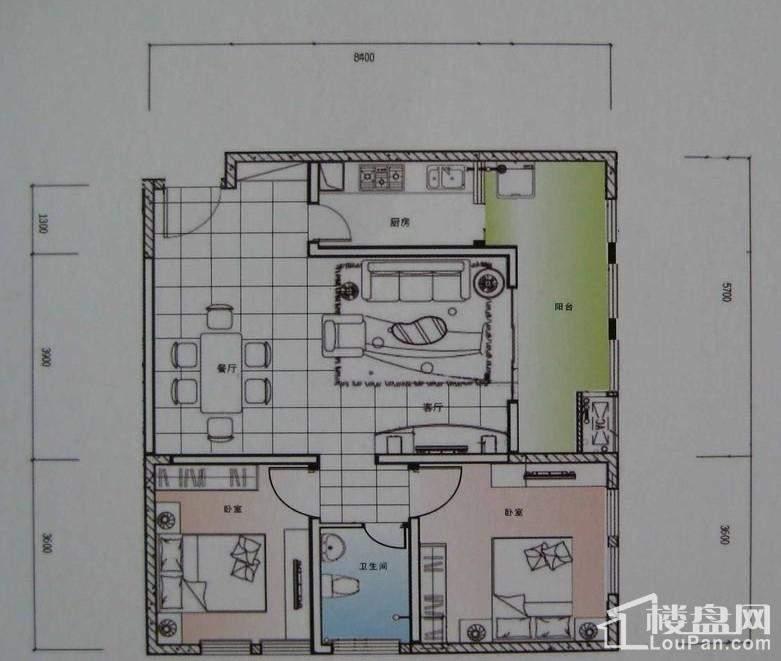 一期A3栋标准层4号房户型