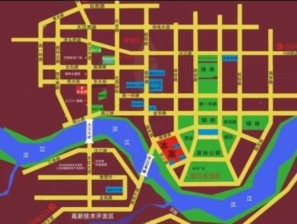 光辉社区·汉江国际位置图
