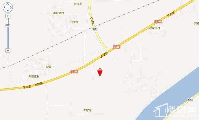 怀柔区北房镇驸马庄村限价商品房位置图