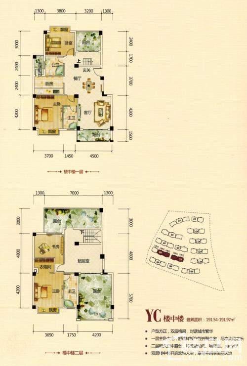 卡萨布兰卡组团YC楼中楼户型图