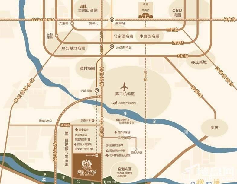绿宸万华城位置图