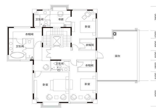 玺泉独院E 地上二层户型图