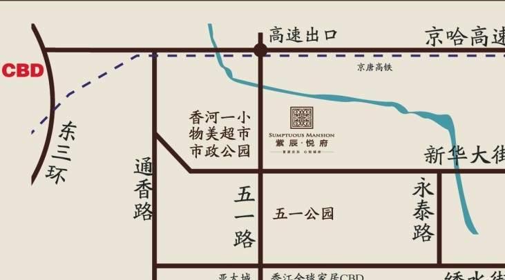 紫辰悦府位置图