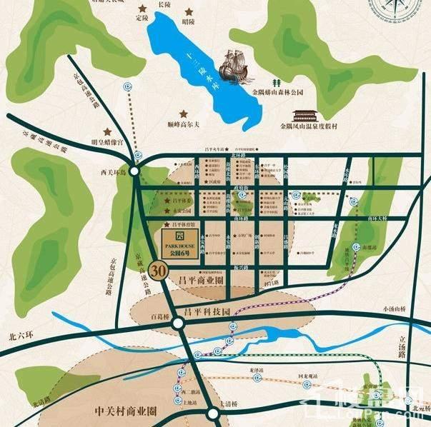 公园6号位置图