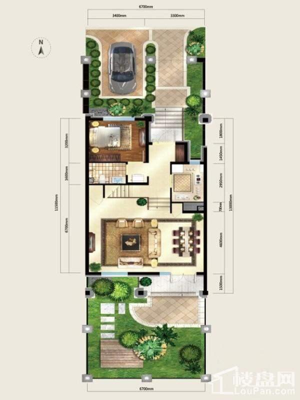 户型图美式别墅L6