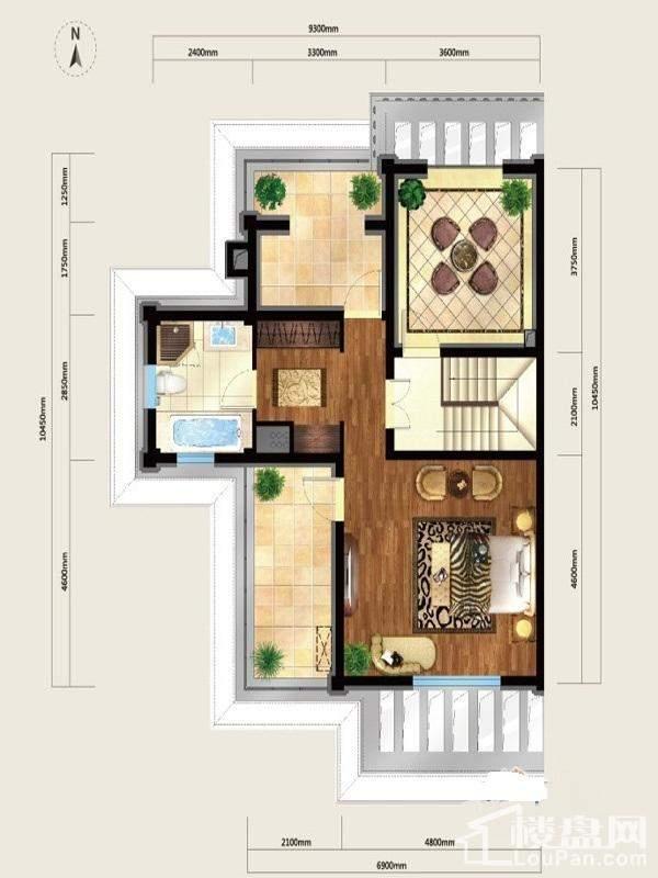 户型图美式别墅L7