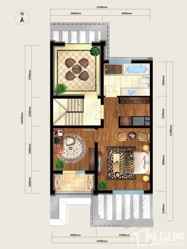 户型图美式别墅L8