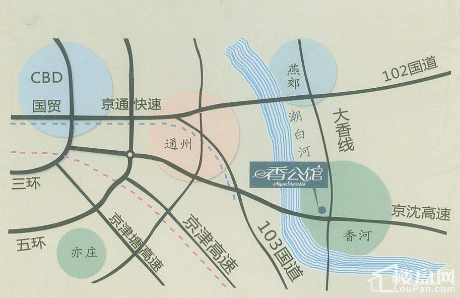 香公馆交通图