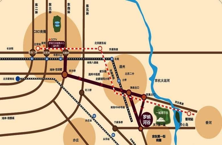 鸿坤罗纳河谷果岭墅位置图