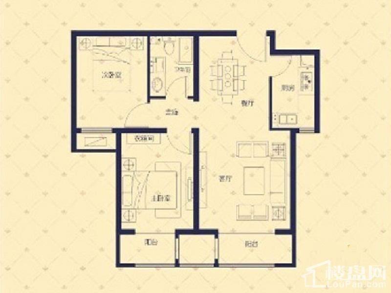1#/3#楼B户型5#楼B/E户型