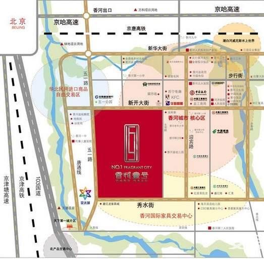 香城壹号位置图