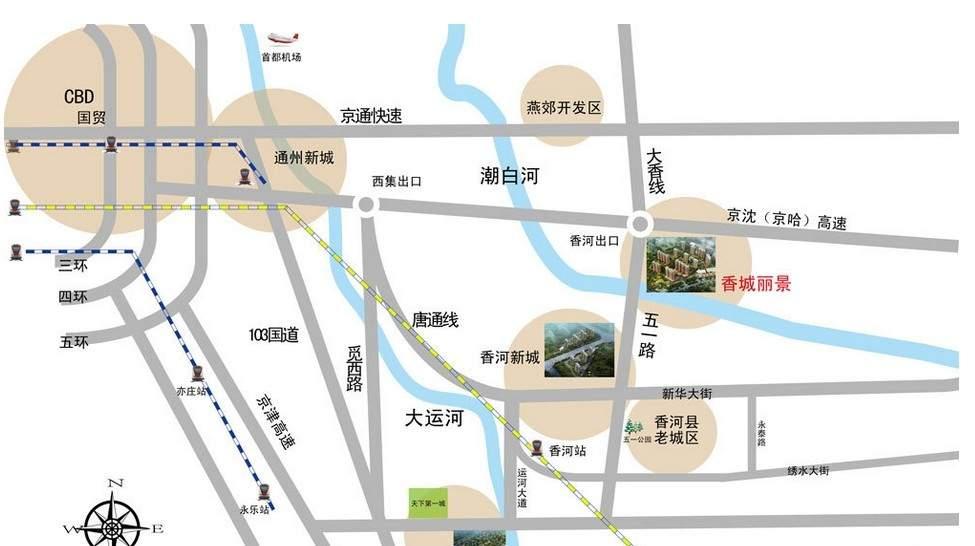 香城俪景二期位置图