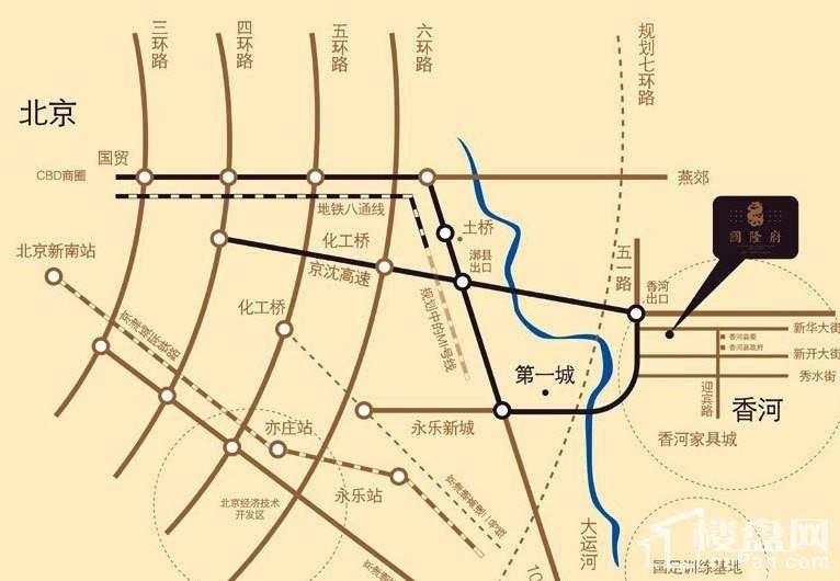 国隆府交通图