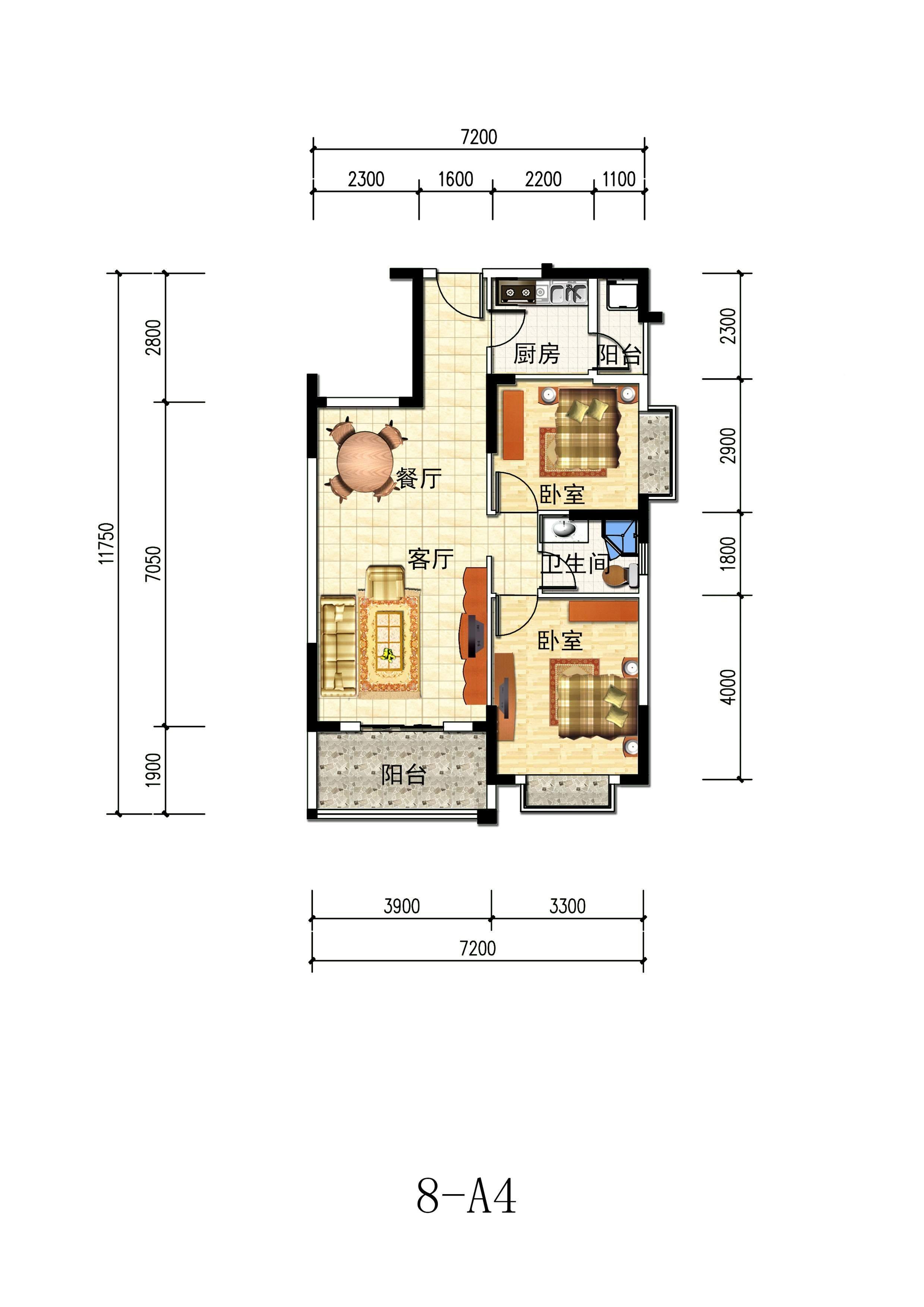 翰林世家8号楼户型图