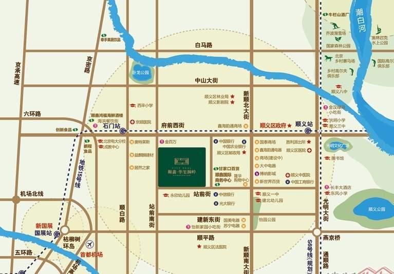 顺鑫华玺瀚楟位置图