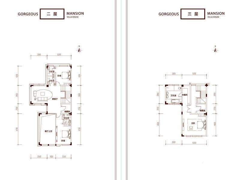 一期别墅C户型二三层