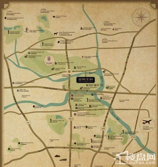 金科王府位置图