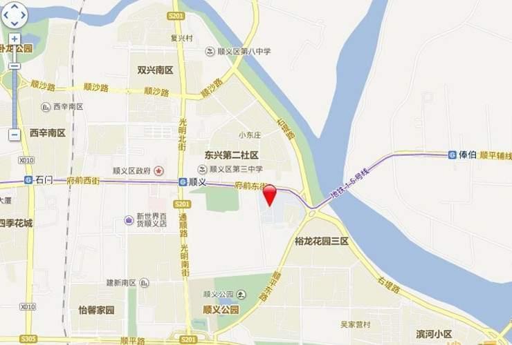 财懋房地产赵全营板桥一期地块位置图