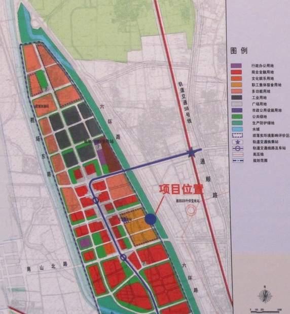 顺义李桥镇洼子村定向安置房项目位置图