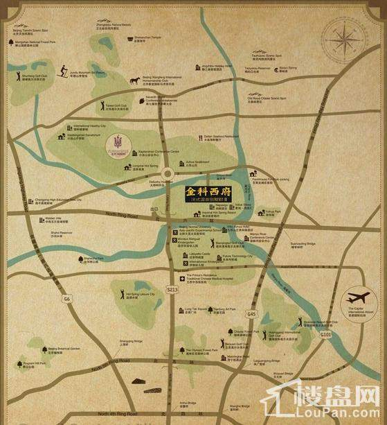 金科西府位置图