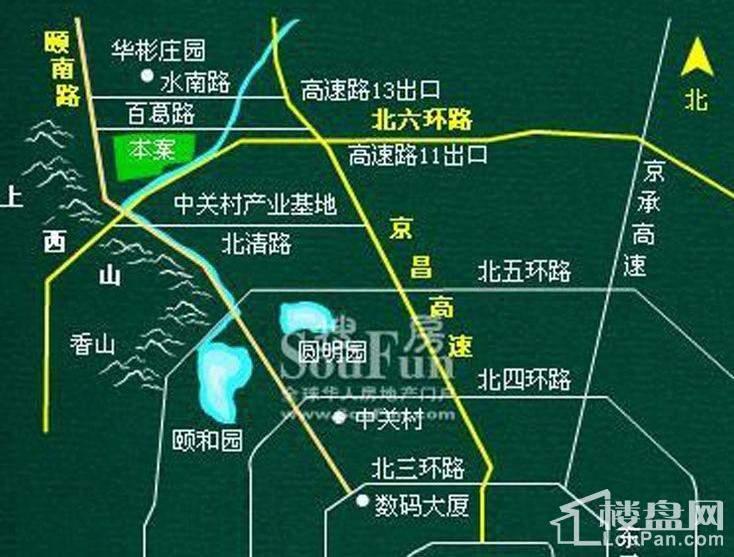 香江别墅I位置图